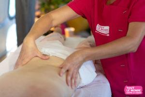 échappée rose - massage